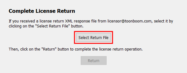 Select Return File