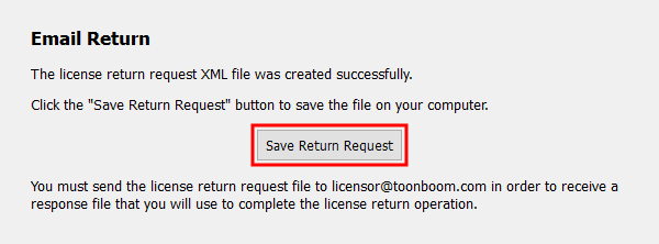 Save Return Request