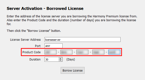 Toon Boom Product Activation Procedures: Borrowing a License