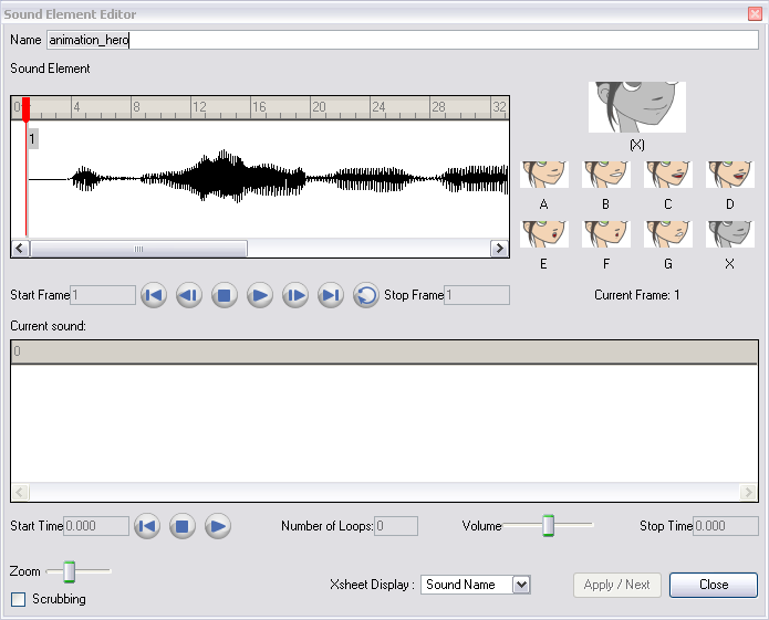 Animate 3 Pro Online Help: Editing a Sound File