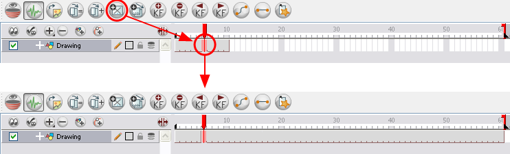 Animate 3 Online Help: Keyframes and Drawing Blocks