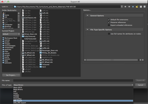 Toon Boom Harmony 10 3 Documentation: Exporting a 3D Object