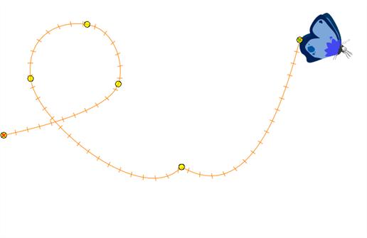 motion path kupu-kupu