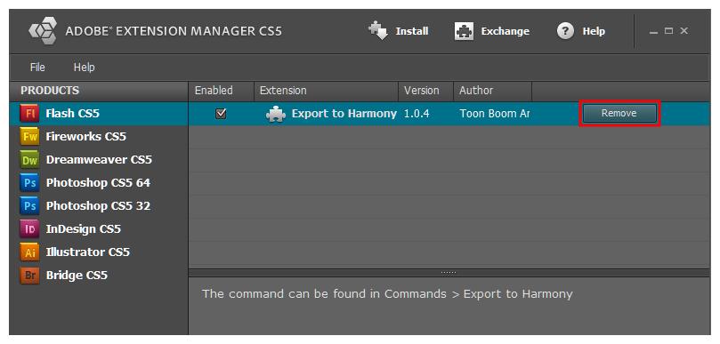 Harmony 15 0 Advanced Documentation: Installing the Export