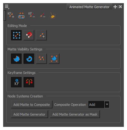 Harmony 15 0 Premium Documentation: Animated Matte Generator View
