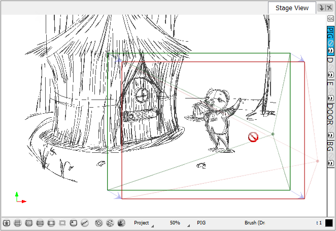 Storyboard Pro 4 2 Online Help Drawing Within The 3d Space