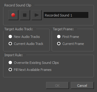Storyboard Pro 60 Online Help Recording Sound Clips