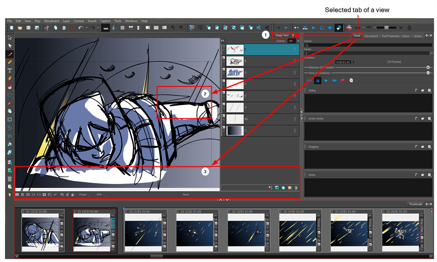 Storyboard Pro 6 0 Online Help: Moving Views